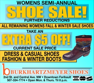 Womens Semi-Annual Shoe sale