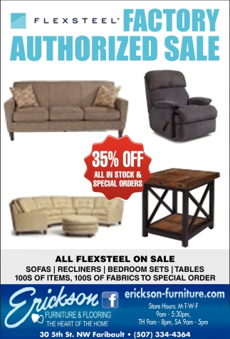 Flexsteel Erickson Furniture Flooring Faribault Mn