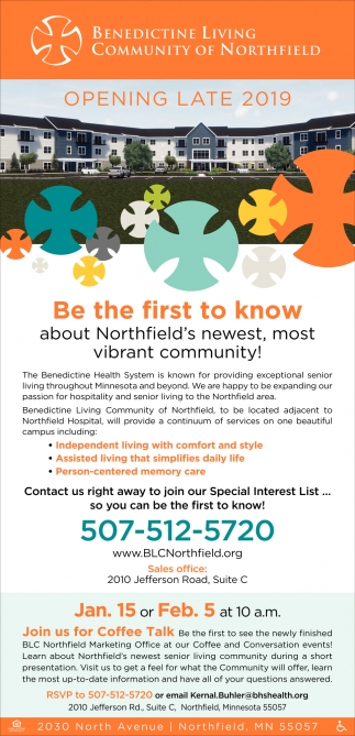 Be The First To Know About Northfield's Newest Community!