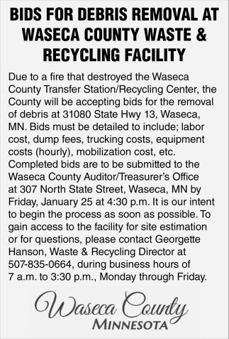 Bids For Debris Removal