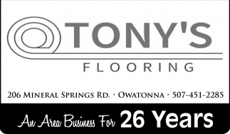 An Area Business For 26 Years, Tony's Flooring, Owatonna, MN