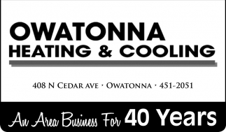 An Area Business For 40 Years, Owatonna Heating & Cooling, Owatonna, MN