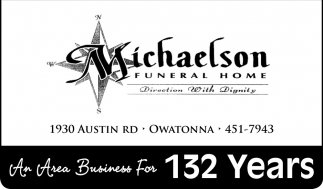 An Area Business For 132 Years, Michaelson Funeral Home, Owatonna, MN