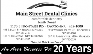 An Area Business For 20 Years