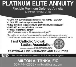 Platinum Elite Annuity