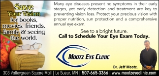 Call To Schedule Your Eye Exam Today