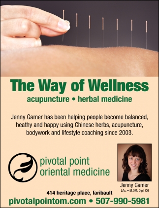 The Way Of Wellness, Pivotal Point Oriental Medicine, Faribault, MN