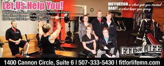Let Us Help You!, Fit For Life, Faribault, MN