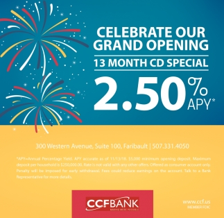 Celebrate Our Grand Opening