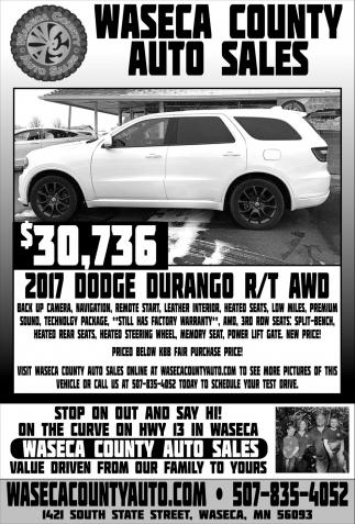 $30,736 -  2017 Dodge Durango R/T AWD