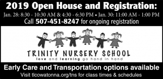 2019 Open House and Registration, Trinity Nursery School, Owatonna, MN