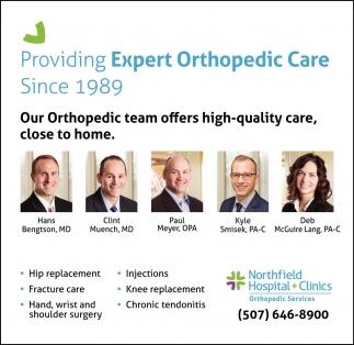 Providing Espert Orthopedic Care Since 1989