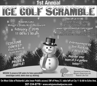1st Annual Ice Golf Scramble