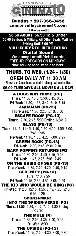 Cinema Listings