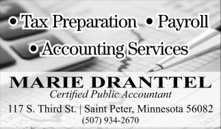 Tax Preparation. Payroll, Accounting Services