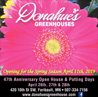 Opening for the Spring Season April 11th
