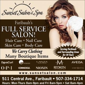 Full Service Salon!