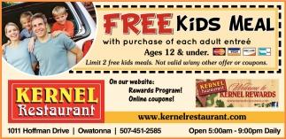 Free Kids Meal