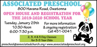 Open House and Registration for the 2019-2020 School Year