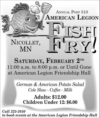 Annual Post 510 Fish Fry!