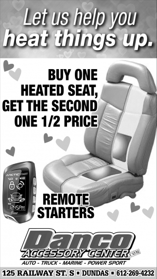 Buy one heated seat, get the second one 1/2 price