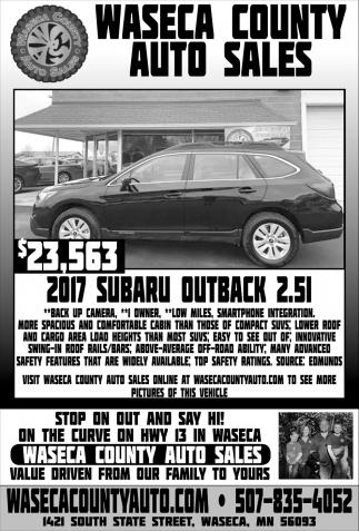 $23,563 2017 Subaru Outback 2.51