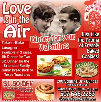 Dinner for your Valentine, Gooters Dough To Go, Dundas, MN