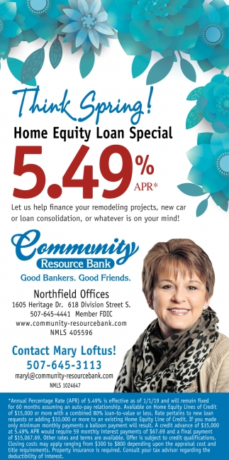Home Equity Loan Special - 5.49%