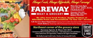 We offer Farm Fresh Produce, Fareway Meat & Grocery - Faribault, Faribault, MN