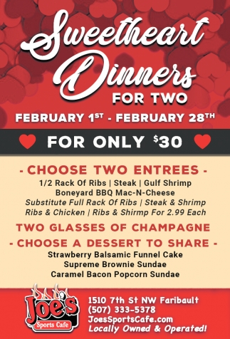 Sweetheart Dinners for Two