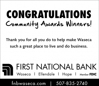 Congratulations Community Award Winners!