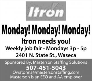 Itron needs you!