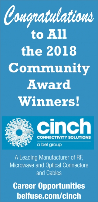 Congratulations to All the 2018 Community Award Winners!