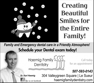 Creating Beautiful Smiles for the Entire Family!