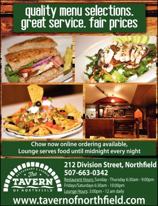 Quality menu selections, great service, fair prices