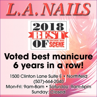 Voted best manicure 6 years in a row!