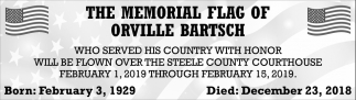Memorial Flag of Orville Bartsch