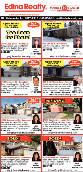 Open House - Listings