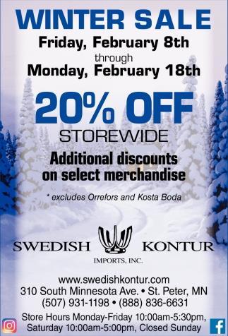 Winter Sale 20% Off Storewide