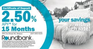 Certificate of Deposit 2.50%