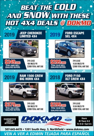 Beat the Cold and Snow with these Hot 4x4 Deals