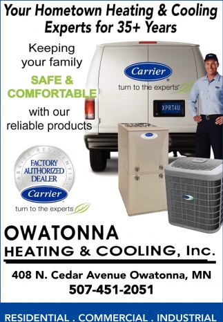 Keeping your family safe & comfortable, Owatonna Heating & Cooling, Owatonna, MN