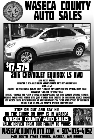 $17,579 - 2016 Chevrolet Equinox Ls AWD