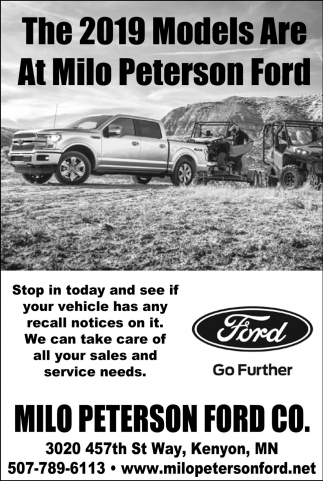 The 2019 Models Are At Milo Peterson Ford