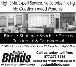 High Style. Expert Service. No Surprise Pricing
