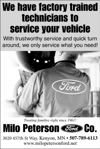 We have factory trained technicians to service your vehicle
