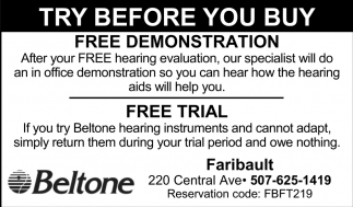 Try before you buy - Free demonstration