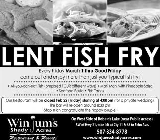 Lent, Fish, Fry