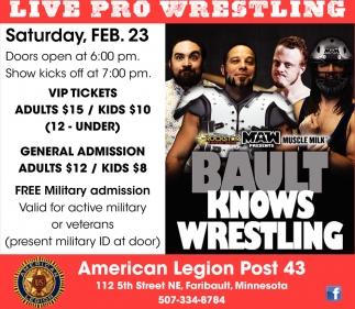 Live Pro Wrestling - Feb. 23