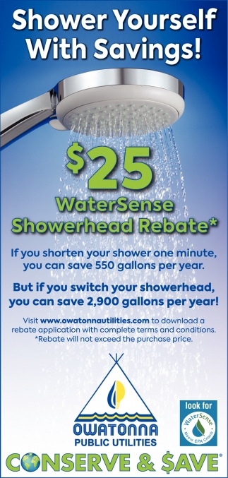 $25 WaterSense Showerhead Rebate